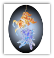FIRE AND ICE ORNAMENT